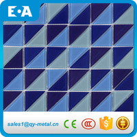 Importers Of Ceramic Wall Triangle Glass Tile Mosaic For Swimming Pool