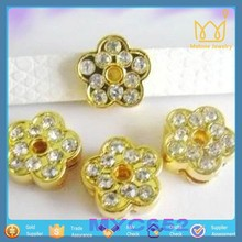 Snazzi Pet 8mm Slide Pet Collar Charms - Gem Flower Crystal Beads Wholesale Charms