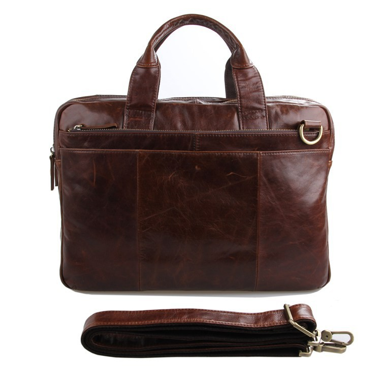 New High Quality Vintage Real Genuine Leather Men Messenger Bags Brief
