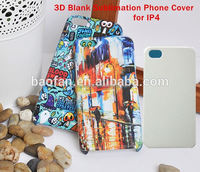 3D Blank Sublimation Phone Case for iphone 4 DIY Sublimation Printable Cell Phone Cover