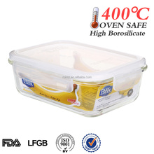 hot selling products wholesale heat-resistant microwave glass container food with locks
