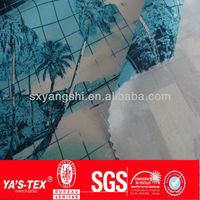 UV-CUT quick dry Printing nylon spandex swimwear beach shorts fabric