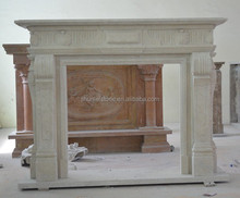 Cream Micro Marble Fireplace Surrounds/Mantel