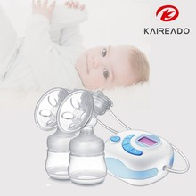 KAREADO New baby feeding products most quiet silicone adult breast pump with twin cup