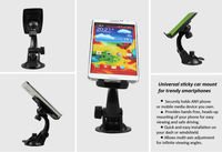 Car Mount Holder with Sticky Silicon Pad for phones, Sticky Car Mount Holder