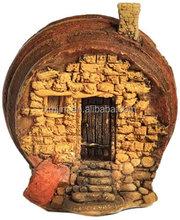 Resin Terrarium Barrel Fairy House Outdoor Decoration