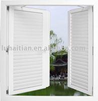 Vinyl anti-theft louver windows upvc shutte windows