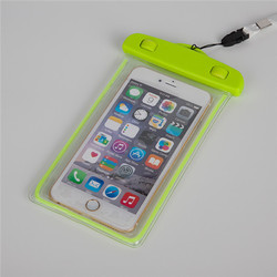New universal Night Light Luminous mobile phone waterproof bag for cell phone 5.5 inch