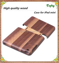 for ipad mini wood cover, detachable blank wood case for iPad mini
