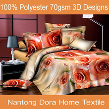 cheap wholesale 3d print polyester bedsheets manufacturer in nantong