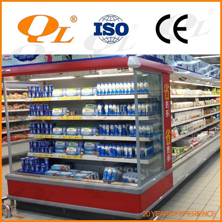 Supermarch boissons refroidisseur d 39 affichage et refroidisseur oem usine top ouvert - Supermarche ouvert autour de moi ...