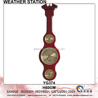 Wooden Weather Station Barometer Decor YG374