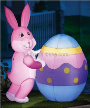 Popular outdoor fashion charming inflatable easter bunny for decoration wholesale