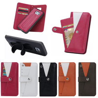 2015 Newest coming TPU case for Samsung s6 edge case with spring stand, TPU leather cover case for samsung s6 edge with card bag