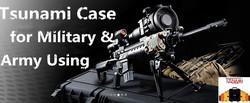 M16 & M9 pistol gun case combo Fast deployment weapons case protects M16 rifle M9 pistol