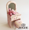 high quality the furniture shape home decoration fabric printed custom jewelry box wholesale