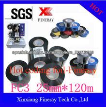 Papel de aluminio negro caliente de codificación y la cinta de codificación fecha en las industrias de embalaje e impresión