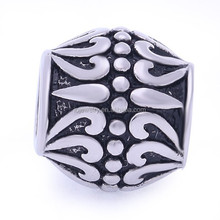 Vintage exquisite stainless steel bead