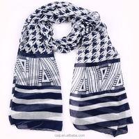 Multi-color Striped Fashion Hijab Shawl