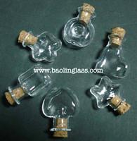 customize mini star apple heart shaped clear perfume bottle