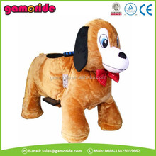 AT0612 electric plush riding animal animales mecanicos peluches motor gz playground horse toy