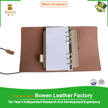 2015 personal leather / PU note book / dairy