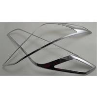 Auto parts accessories ABS Chrome headlamp cover trim car accessories for Hyundai Sonata 15