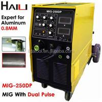 Dc Inverter IGBT Aluminium MIG/MAG welding machine With Dual Pulse(MIG-250DP)