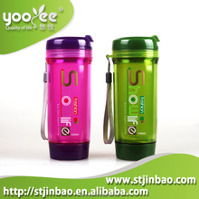 Plastic Reusable Sport Water Bottles with Hook Factory Direct Sales