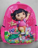 wholesale dora plush bag 3D school bag dora