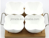 Ceramic Small Salad Bowl Set with Tray