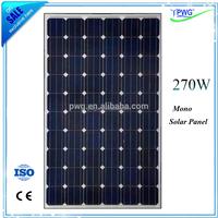 Grade-A panel solar 270w mono PV solar panel price solar panel making machine from China
