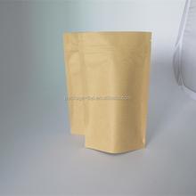 moisture proof foil lined kraft paper ziplock bag for food, brown kraft paper coffee tea packaging bag