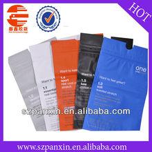 double zip lock apparel packaging bag