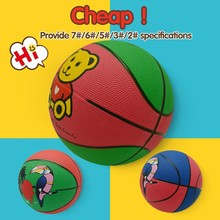 Best promotional eco-friendly basketball,cartoon rubber basketball size 3