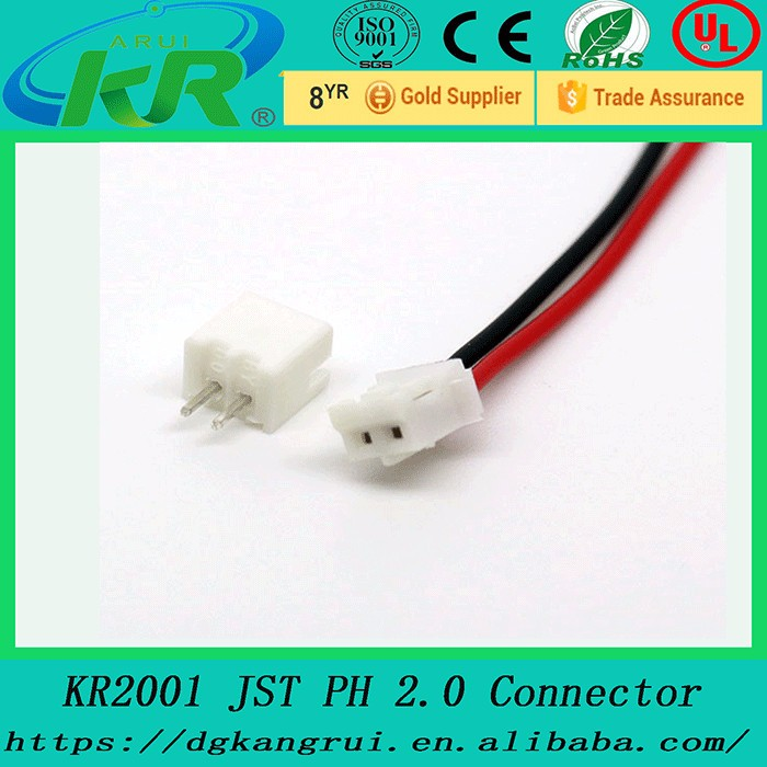 Mini Micro Jst 2.0 Ph 2-pin Connector Plug With Wires Cables 120mm ...