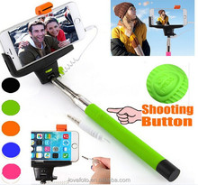 Portable Phone wired z07-7 Monopod self camera pod For IOS Android Smartphone Shutter Self-timer Rod