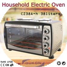 Cz38a-h eléctrico vertical del asador horno, tostadora horno con <span class=keywords><strong>placa</strong></span> caliente