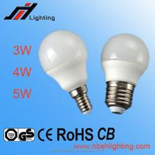 CE ROHS Factory sale G45 3W 4W 5W 6W E27 E14 LED BULB LIGHT