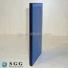 CE certified dark blue laminated glass factory supply