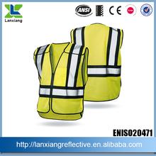 Hi-vis reflecitve vest road safety vest sports vest tape 3m