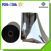 Paper Cold Lamination Use Aluminium Metalized Silver PET Film CPP Mylar