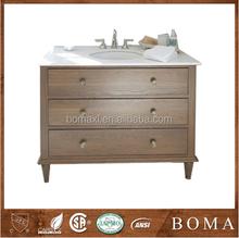 Coloured Rubber Wood Bathroom Vanity