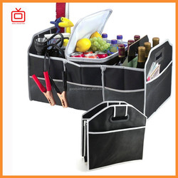 as seen on tv 2-in-1 car boot organizer shopping tidy heavy duty collapsible foldable storage with cool bag