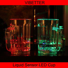 Hot sale 2015 LED flashing glass cup, light up glowing LED cup, bar accessories and party or event supply