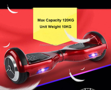 6.5 inch Smart Balance 2 wheel LED electric scooter self balancing with LED light bluetooth speaker
