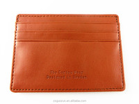 Durable PU Slim Wallet Credit Card Holder Universal Business Genuine Leather Card Case with 4 Card Slots