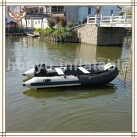 2015 New hot selling cheap inflatable fishing boat with electric motor