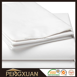 Comed cotton 400TC plain white hotel bed sheet/bed cover