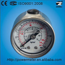 """1.5""""40mm Back connection oil filled pressure gauge movement stainless steel"""